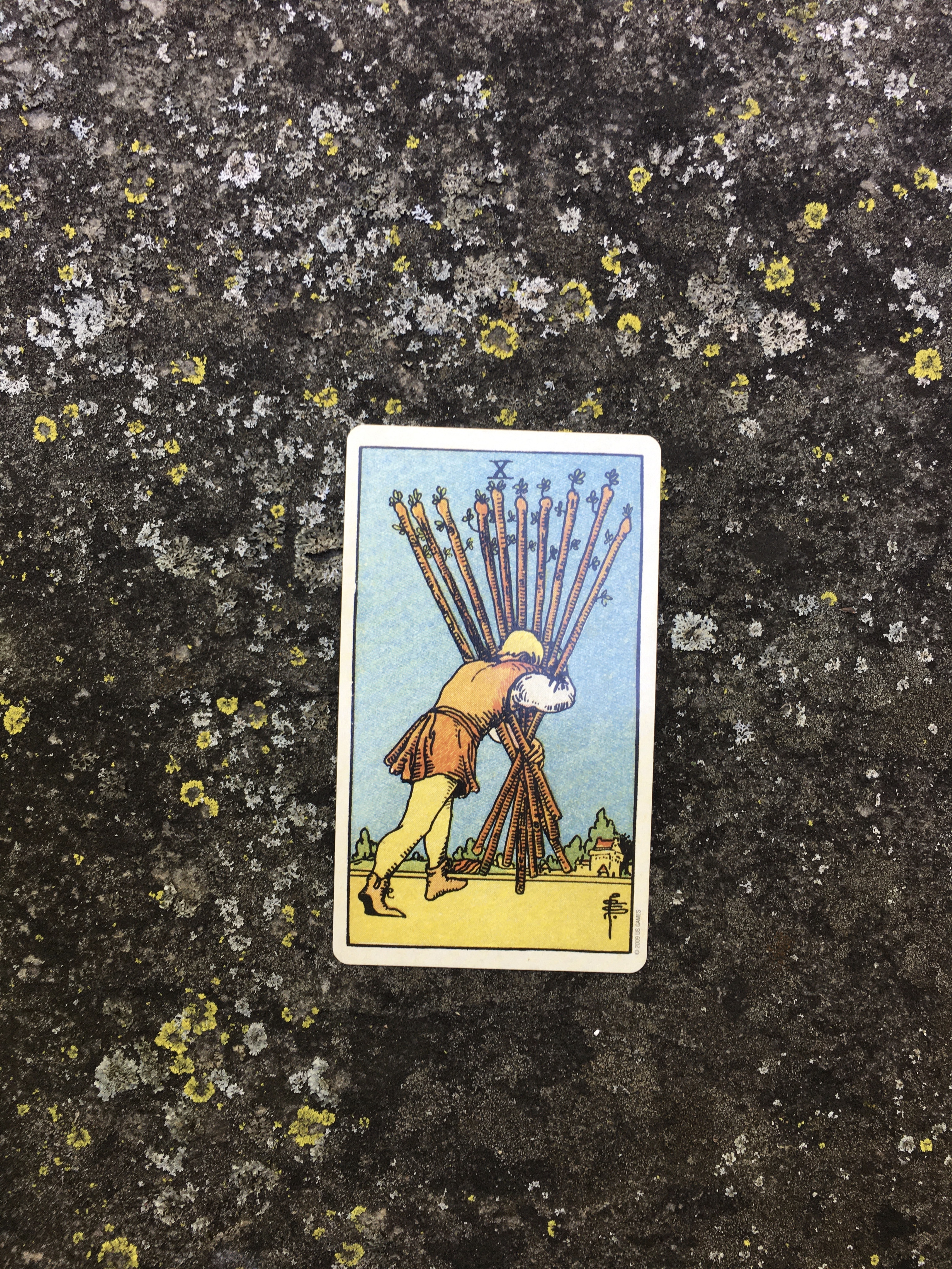 Tarot for Mindfulness and the Ten of Wands: An Ally When It's Too Much for One