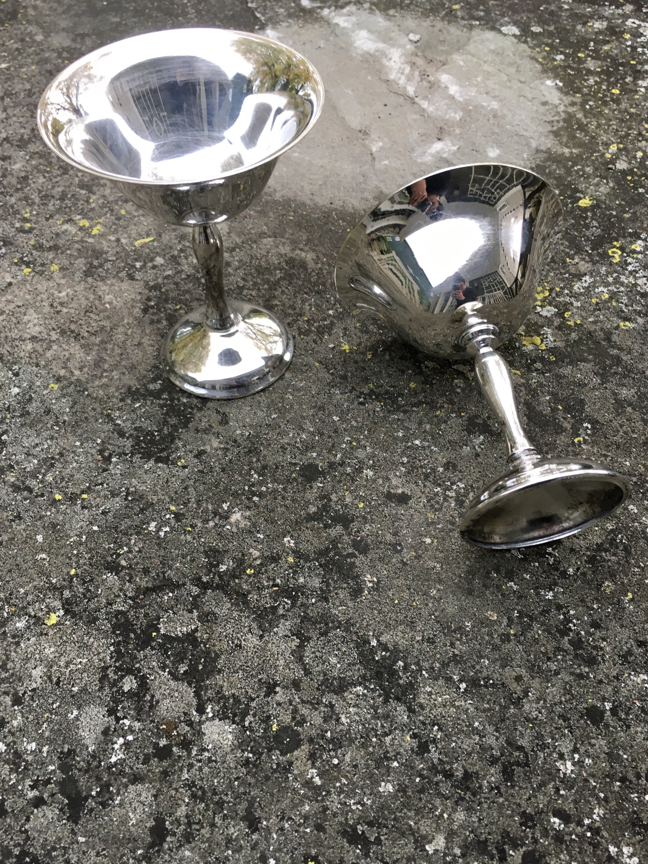 Antique Silver-Plated Coupe Chalices